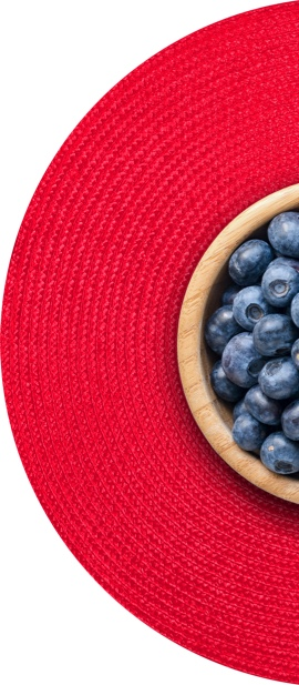 blueberries placemat